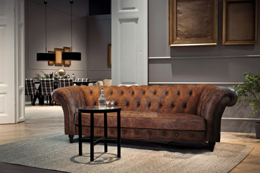 Mebest salon meblowy, skórzane wypoczynki, sofa chesterfield