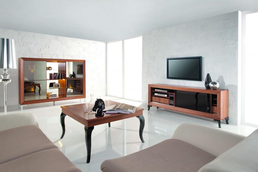 Mebest salon meblowy, luksusowy salon, komoda modern