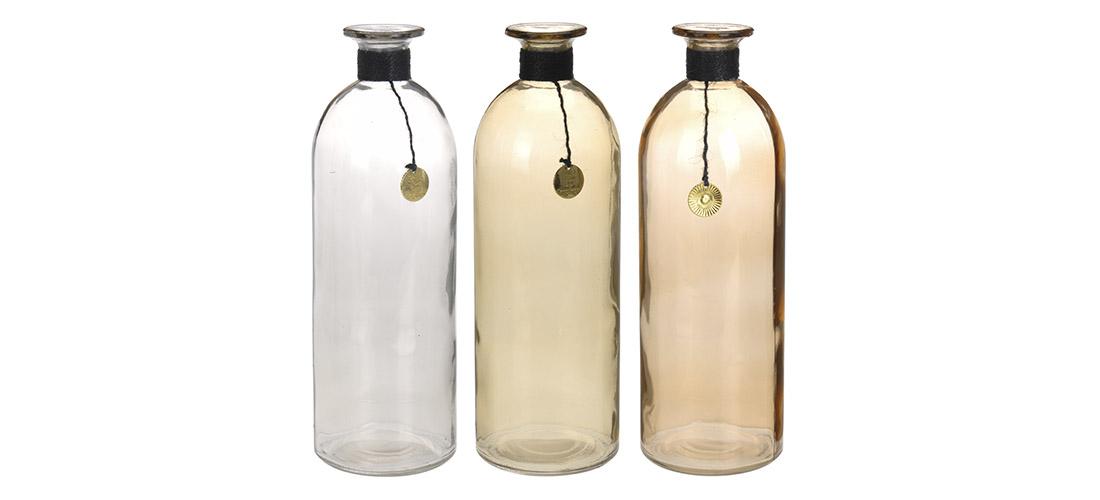 Koopman butelka, wazon, szkło barwione, trzy kolory