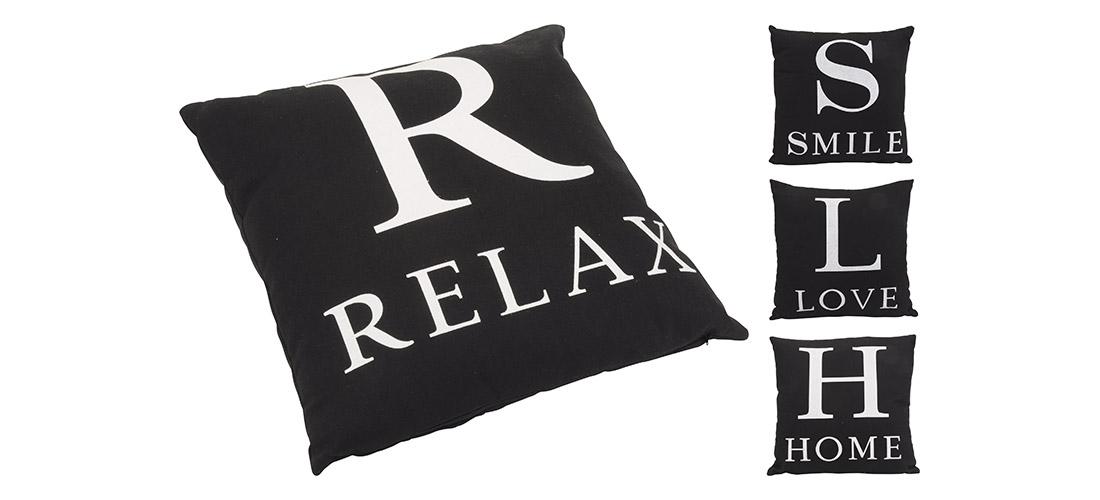 Koopman poduszka z tekstem, 100% bawełna, cztery wzory