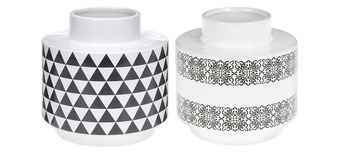 Koopman wazon, porcelit, szkliwiony, dwa wzory