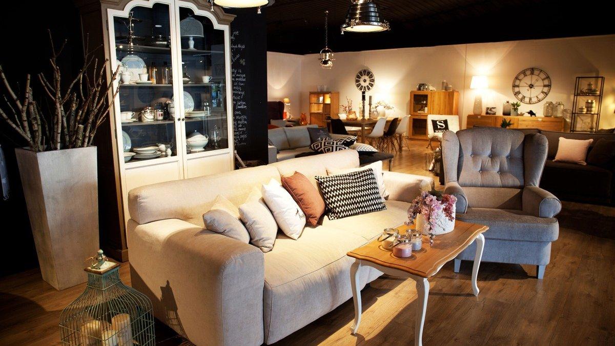 Pokój dzienny narożniki sofy i fotele salon meblowy Mebest zdjęcie nr 13