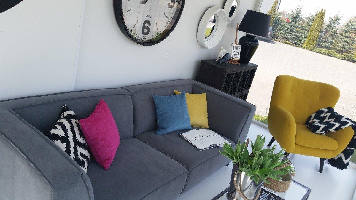 Pokój dzienny narożniki sofy i fotele salon meblowy Mebest zdjęcie nr 17