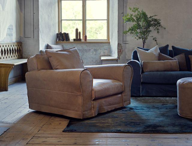 Salon meblowy Mebest, Ekskluzywne meble wypoczynkowe, Luksusowa sofa i fotel Golem