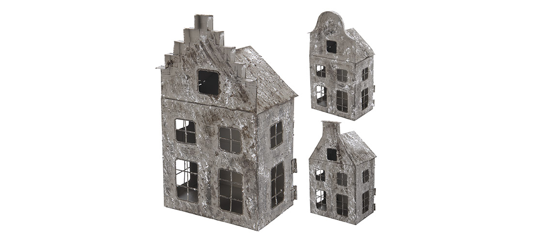 Koopman, lampion, domek, metal, trzy wzory