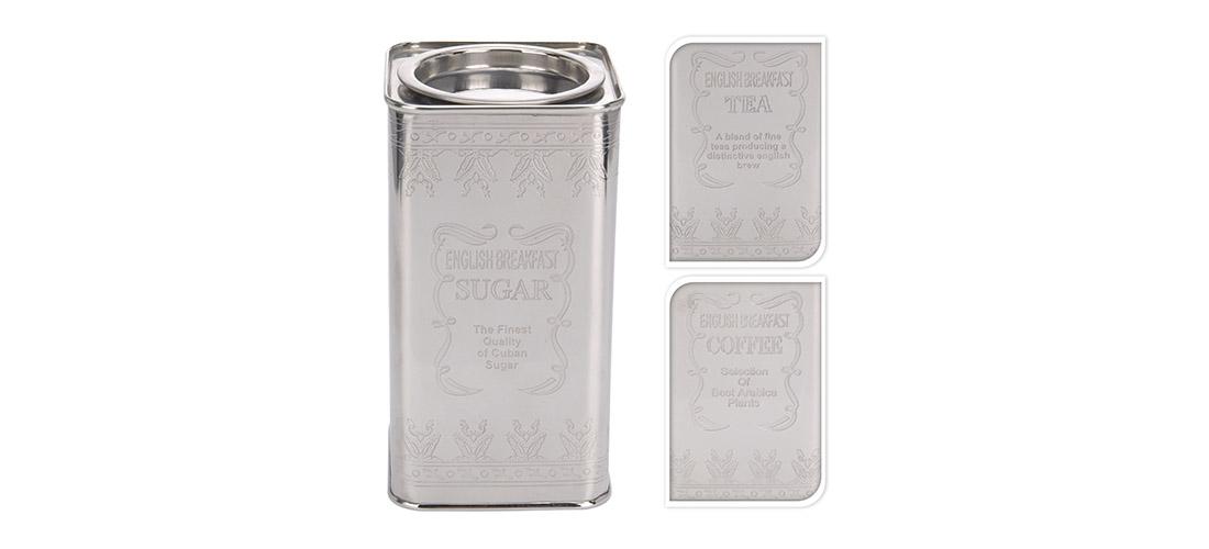 Koopman, puszka na herbate, kawe, cukier, metal, grawer, laserowy