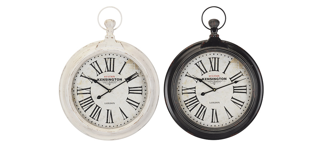 Koopman zegar, metal, szklo, dwa rodzaje