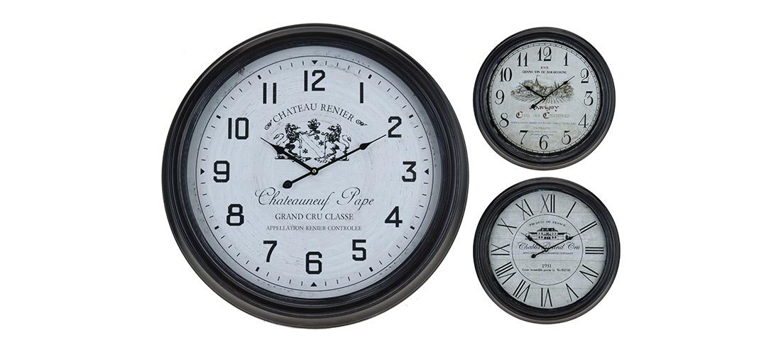 Koopman zegar, metal, szklo, trzy rodzaje
