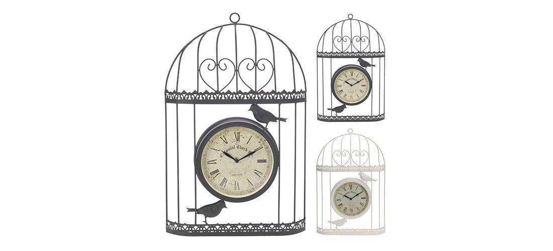 Koopman zegar, klatka, metal, dwa kolory