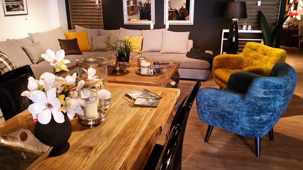 Pokój dzienny narożniki sofy i fotele salon meblowy Mebest zdjęcie nr 14