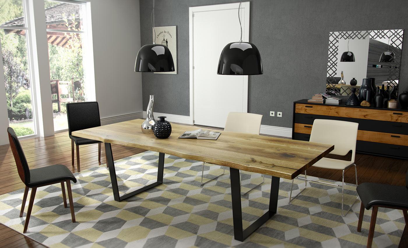 Trebord stół do jadalni dębowy