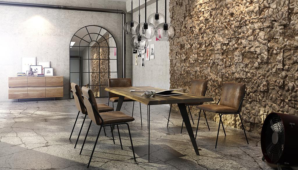 Trebord stół z drewna