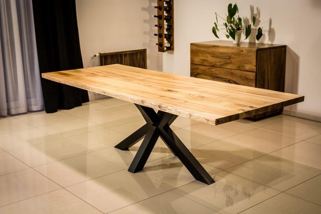 Salon meblowy Mebest Poznan, meble Drewbetex  stol Heavy z drewna jesionowego