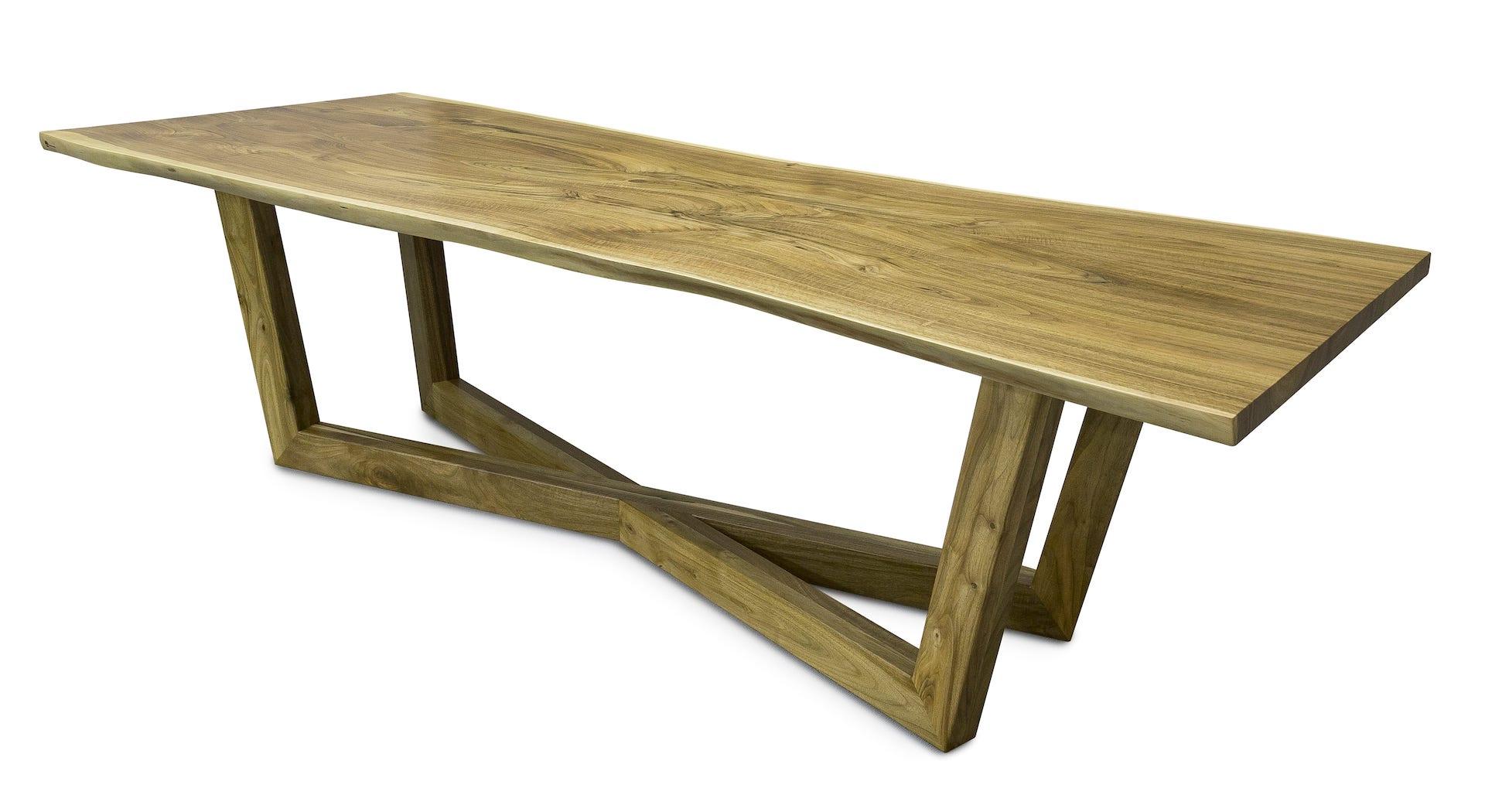 Salon meblowy Mebest Poznan, meble Drewbetex  stol Laguna z drewna litego orzechowego 1