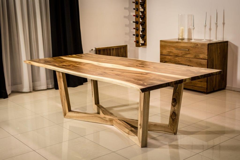 Salon meblowy Mebest Poznan, meble Drewbetex  stol Laguna z drewna litego orzechowego 3