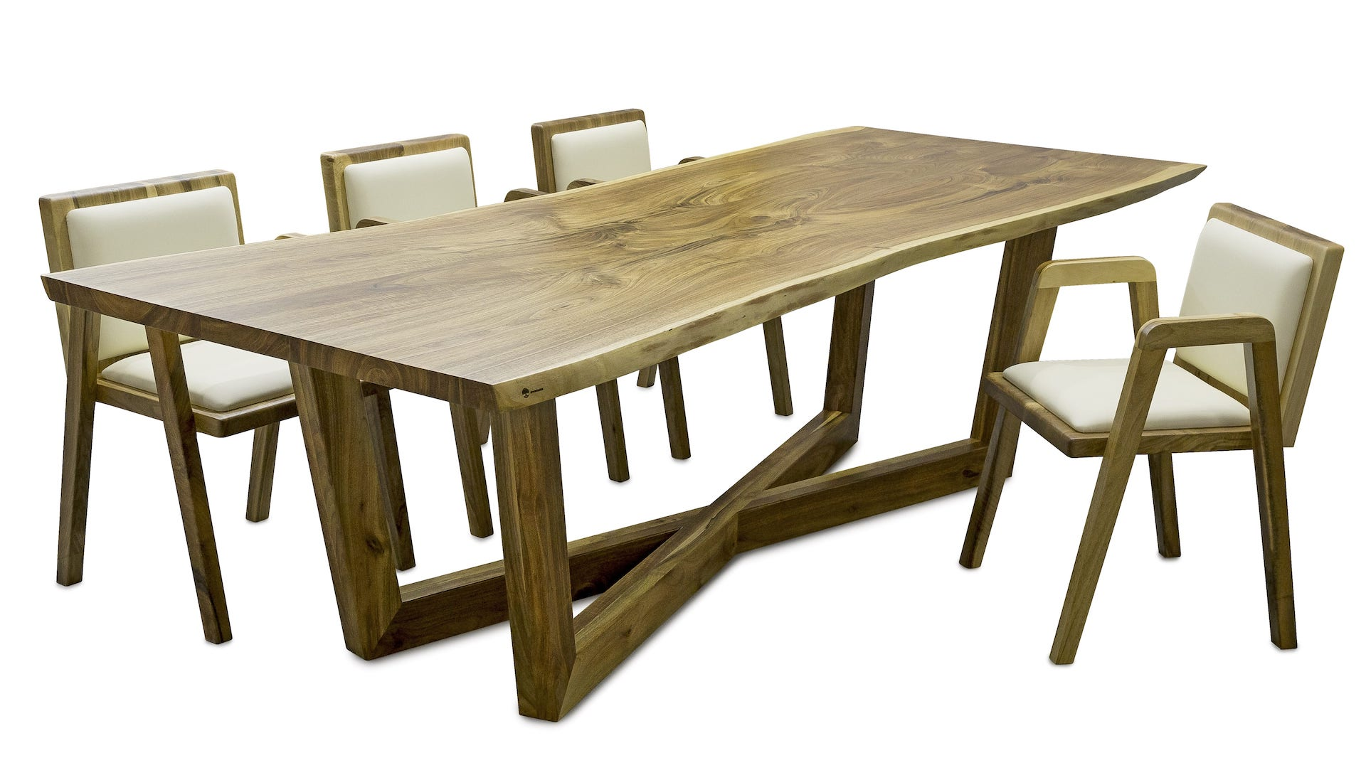 Salon meblowy Mebest Poznan, meble Drewbetex  stol Laguna z drewna litego orzechowego